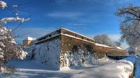 Ужгородський замок взимку
